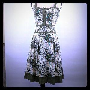 Lucy Paris dress size large olive green floral
